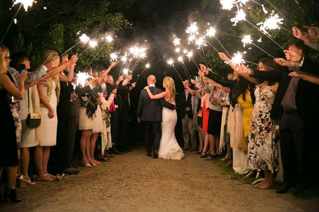Rice is out – sparklers are in!