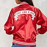 Factory Stay Cute Fight Like a Girl Bomber Jacket ($88)