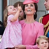 When She and Charlotte Watched the Air Show During Trooping the Colour in 2017
