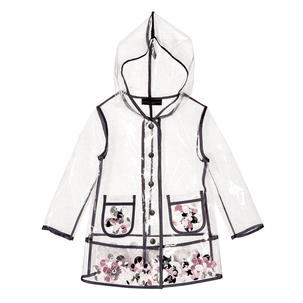 Girls' Clear Flower Appliqué Raincoat  ($40)