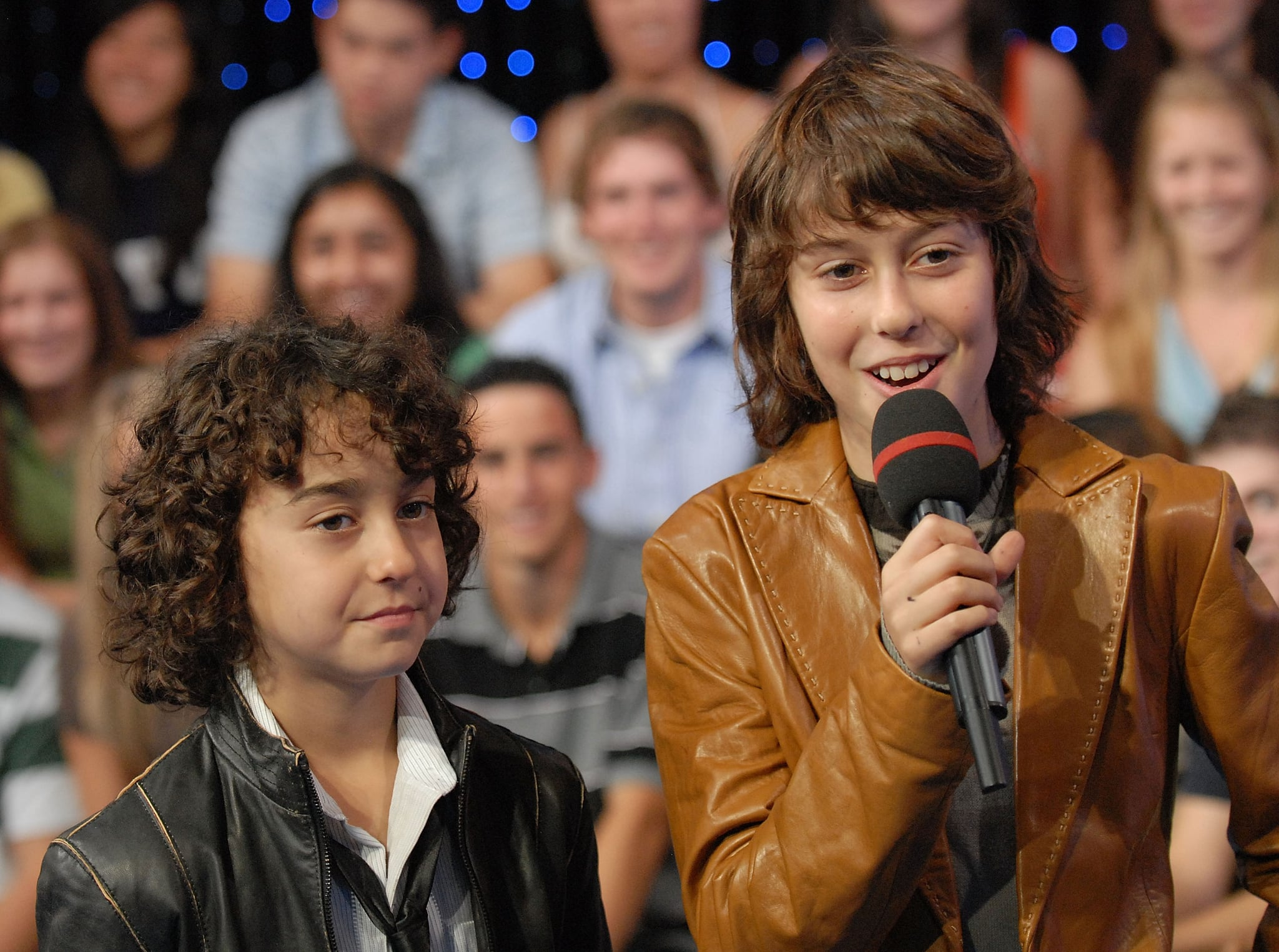 NEW YORK - OCTOBER 08, 2007 Alex Wolff and Nat Wolff of The Naked Brothers Band appear on MTV's