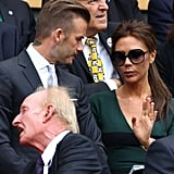 Victoria and David Beckham chatted during the match.