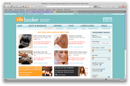 Book Spa Appointments, Save Money: Lifebooker Is a Win-Win Situation