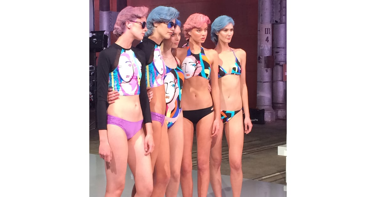 Models posed for press pictures and we could almost smell ...