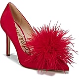 Sam Edelman Haide Feather Pom-Pom Pumps