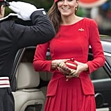 Kate wearing Alexander McQueen in September 2012.