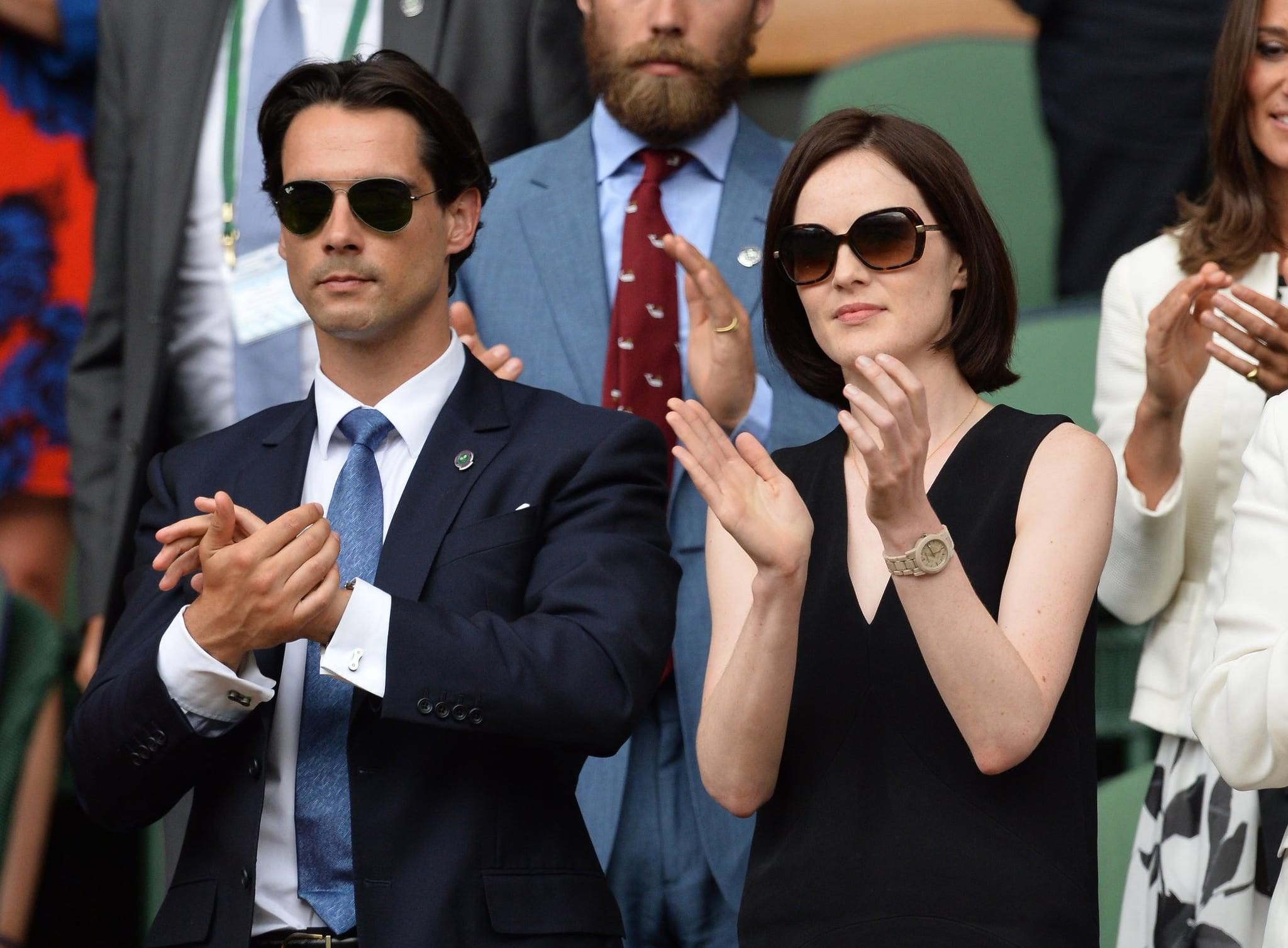 Michelle clapped with boyfriend John Dineen.