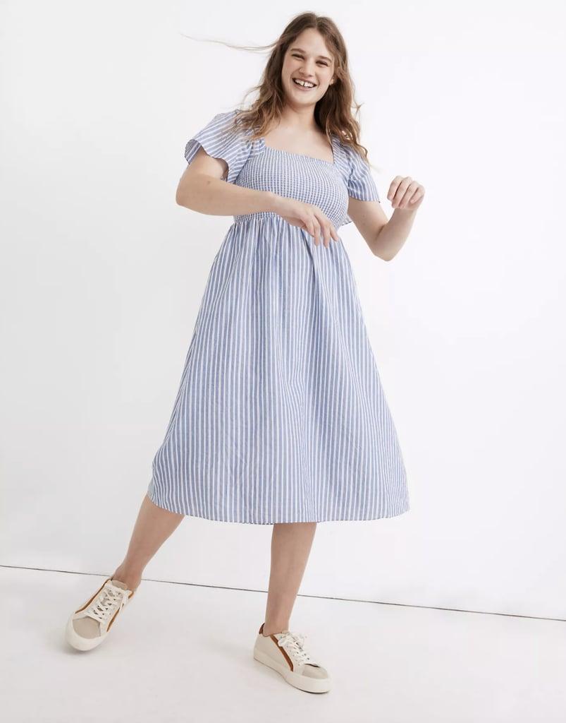 Madewell Lucie Smocked Midi Dress