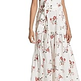 Rebecca Taylor Marguerite Floral Off-the-Shoulder Midi Dress