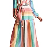 Billabong x Sincerely Jules Mix it Up Stripe Long-Sleeve Maxi Dress