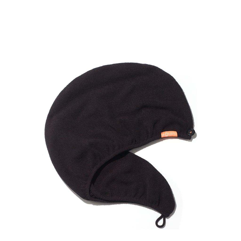 Aquis Lisse Luxe Hair Turban in Dark Black