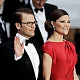 Prince Daniel and Crown Princess Victoria attend a gala before Prince William and Kate Middleton's royal wedding.