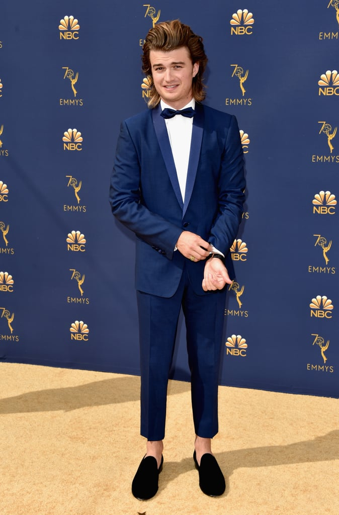 Joe Keery and Gaten Matarazzo at the Emmys 2018