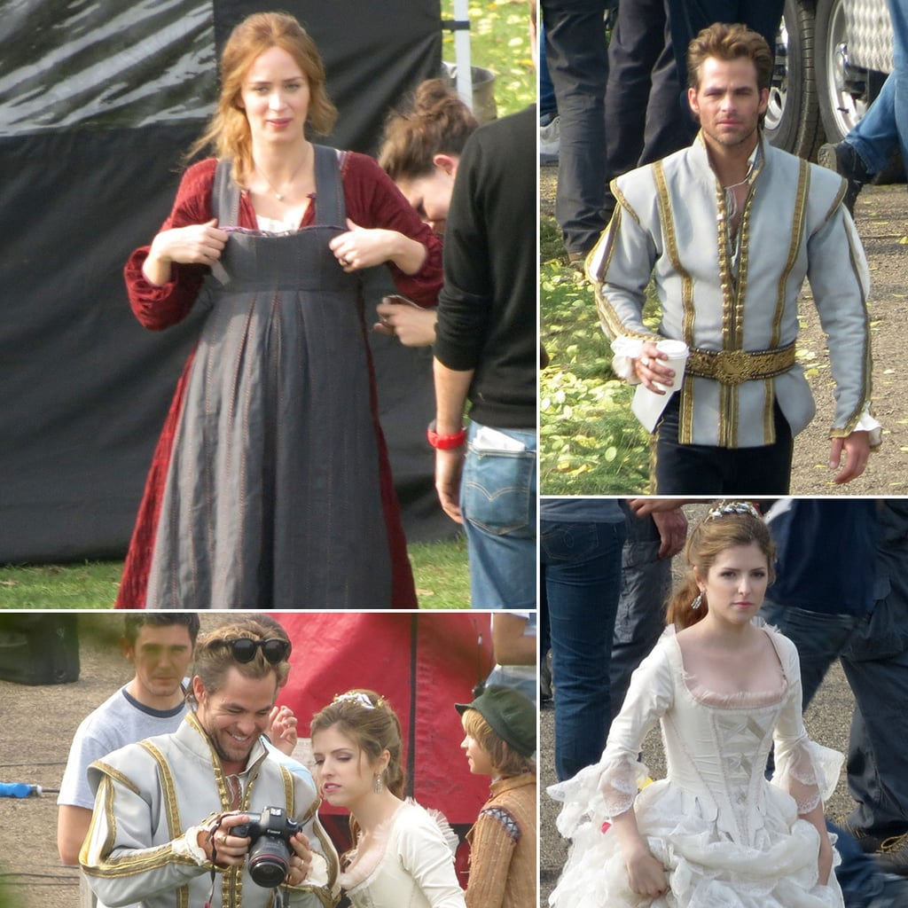 Pregnant Emily Blunt Filming Into the Woods | Pictures