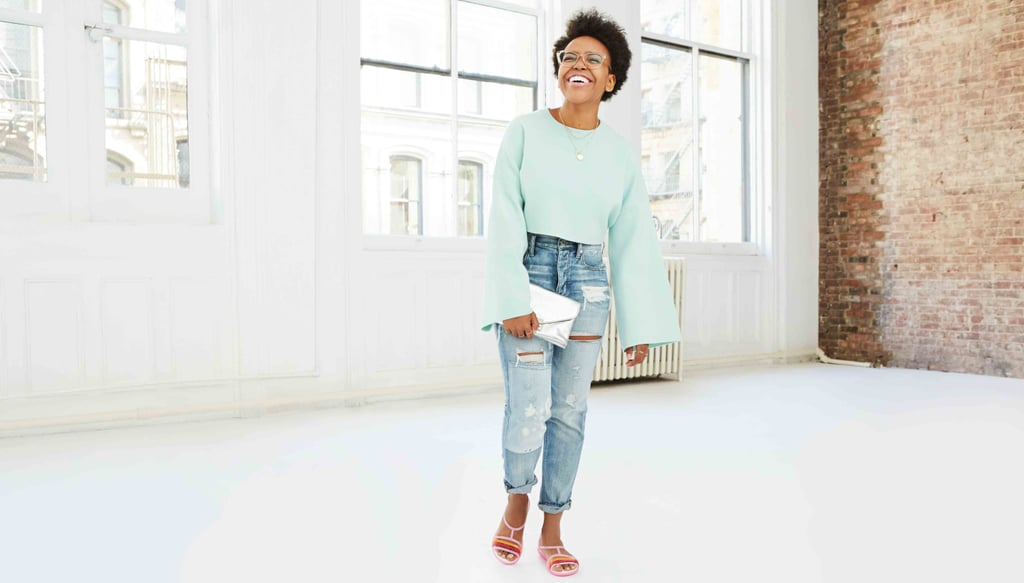 How Mekishana Pierre wears her pastel sandals
