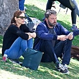 Jennifer Garner and Ben Affleck at the Park in LA June 2018
