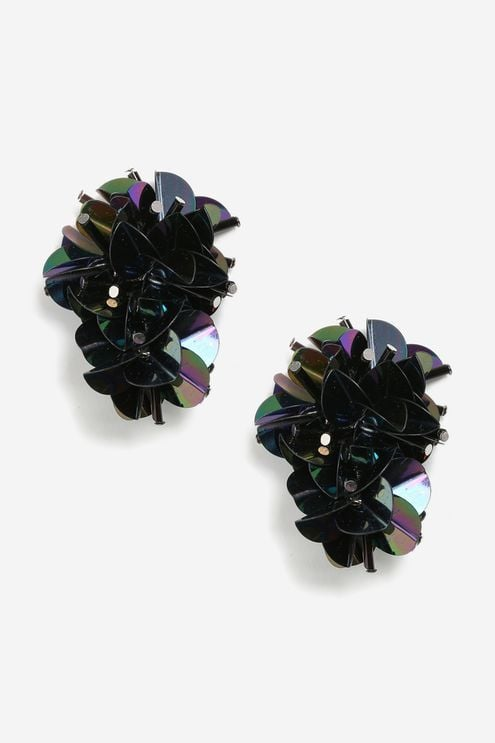 Topshop Cluster Sequin Earrings