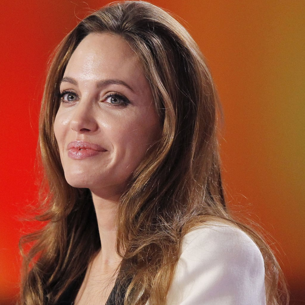 Angelina got a standing ovation from the crowd.