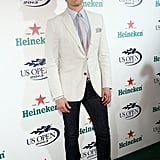 Matt Bomer looked dapper on the red carpet for the US Open kickoff party.