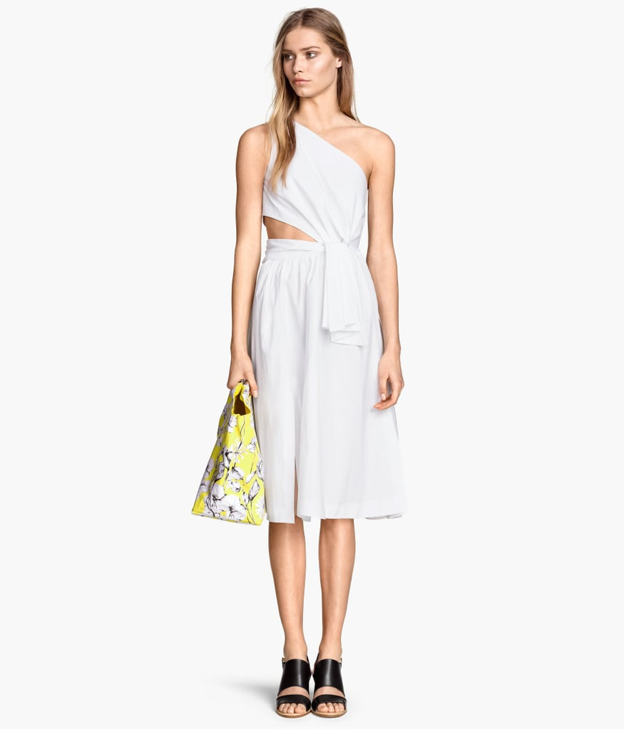 In my dream world, I'm sitting pretty outside in this gorgeous one-shoulder dress from H&M ($70), sipping rosé (which I would obviously not spill). I'd accessorize with espadrilles and a sun hat. — Sarah Wasilak, editorial assistant