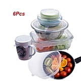 JRing 6Pcs Silicone Stretch Lids Covers, Dishwasher and Freezer Safe (Transparent) (£7)