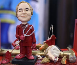 Bernard Madoff Devil Doll Comes Equipped With a Hammer