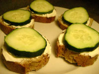 Cucumber Cream Cheese Nibblers
