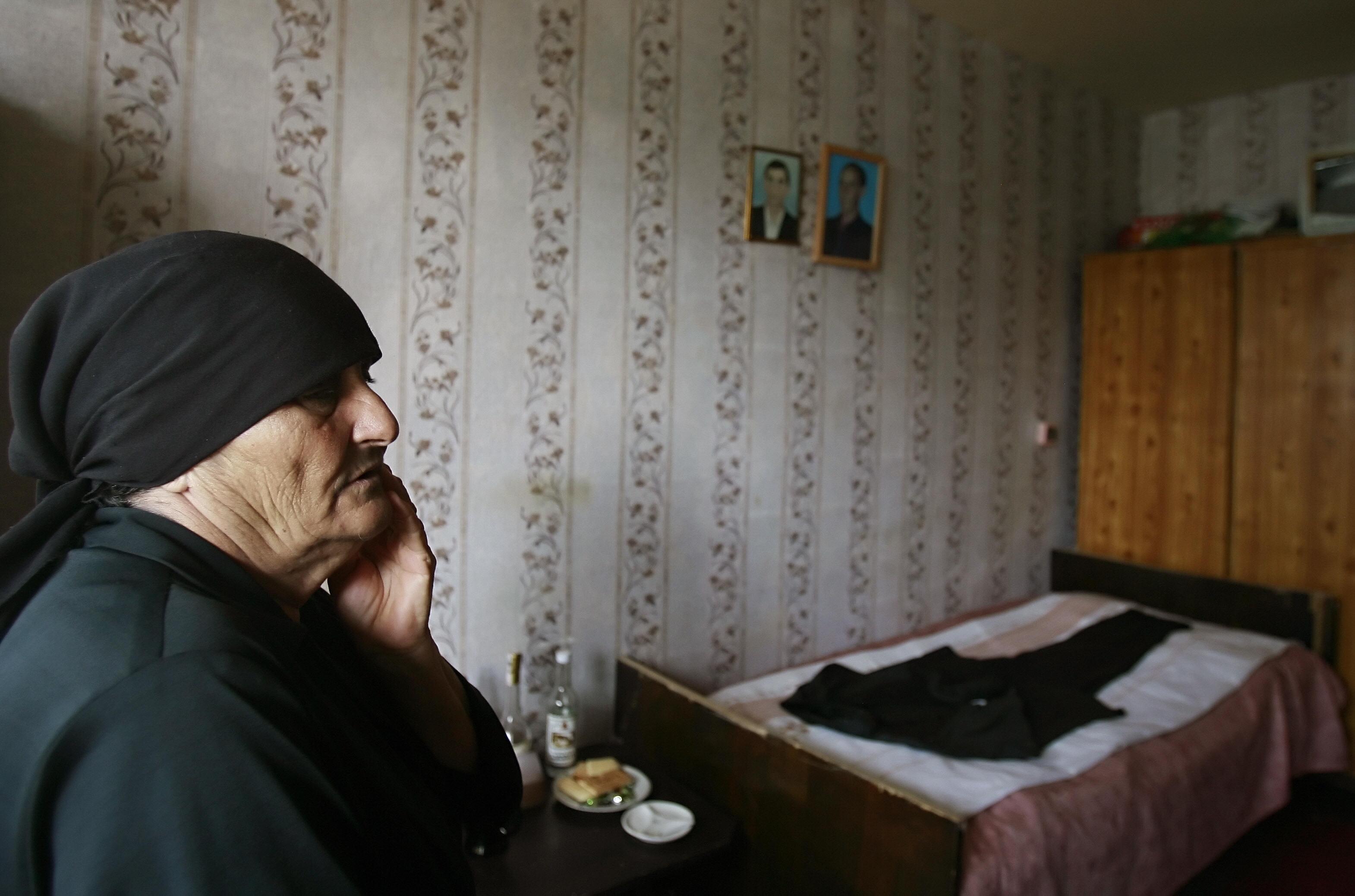 Rosa Indjgia who lost her husband Meira during the Senaki bombing.