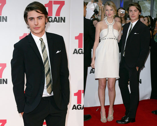 Photos Of Taylor Swift And Zac Efron At The Premiere Of 17 Again Popsugar Celebrity