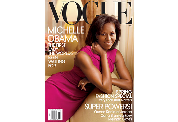 For the cover, Michelle was photographed by Annie Leibovitz wearing a Jason Wu dress.