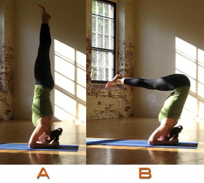 headstand  popsugar fitness